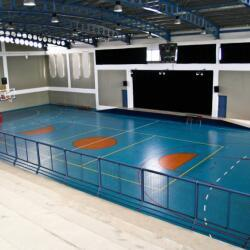 The International School Of Paphos Indoor Basketball Court With Theater Stage